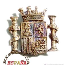 Militaria: DISTINTIVO ESCUDO ESPAÑA 2ª REPÚBLICA - PERFECTO ESTADO. Lote 54469868