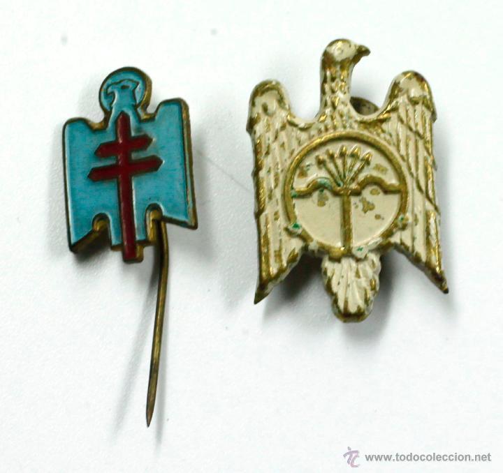 2 PINS DE LA ÁGUILA FRANQUISTA, 1930'S. (Militar - Insignias Militares Españolas y Pins)