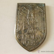 Militaria: REPRODUCCION DEL EMBLEMA DE BRAZO ALEMAN DE CHOLM 1942. Lote 50070597