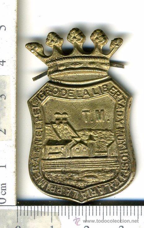 INSIGNIA DE PATILLAS DE LA CIUDAD DE MALAGA POSIBLEMENTE PARA POLICIA O FUNCIONARIO PUBLICO MILITAR? (Militar - Insignias Militares Españolas y Pins)