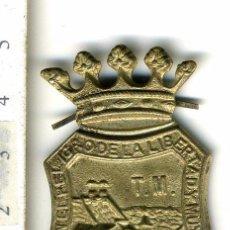 Militaria: INSIGNIA DE PATILLAS DE LA CIUDAD DE MALAGA POSIBLEMENTE PARA POLICIA O FUNCIONARIO PUBLICO MILITAR?. Lote 50484471