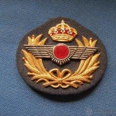 Militaria: INSIGNIA PARA GORRA CON ROKISKI DE AVIACION - 8X7 CM . Lote 50637272