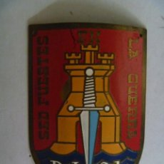 Militaria: PLACA DE BRAZO DE LA DIVISION DE INFANTERIA Nº 21 . SED FUERTES EN LA GUERRA, ANTIGUA. Lote 50719394