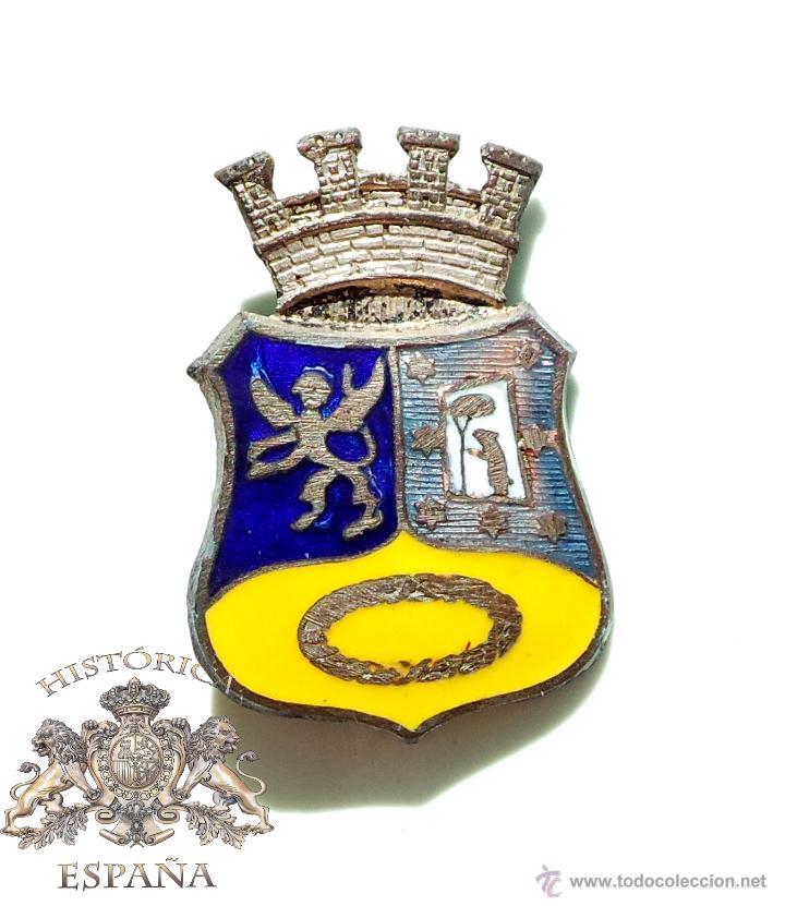 Insignia Emblema Lucero Republicano Escudo Ayuntamiento De Madrid Esmaltado