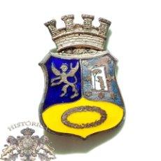 Militaria: INSIGNIA EMBLEMA LUCERO REPÚBLICANO, ESCUDO AYUNTAMIENTO DE MADRID ESMALTADO. Lote 50984939