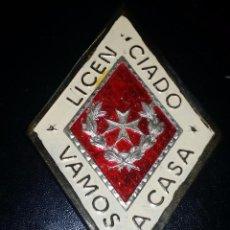 Militaria: ROMBO DE LICENCIADOS DE SANIDAD MILITAR. Lote 195358698