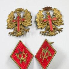 Militaria: 5 INSIGNIAS MILITARES DE TRAJE, 1940'S.. Lote 51326884