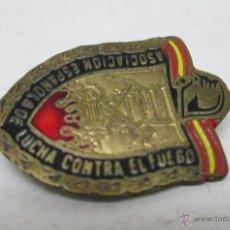 Militaria: ANTIGUO PIN DE AGUJA ,ESMALTADO, ASOCIACION ESPAÑOLA DE LUCHA CONTRA EL FUEGO. Lote 52562133