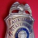 Militaria: INSIGNIA PLACA DE POLICIA AMERICANA AUXILIARY STATE POLICE PATRULLA DEL ESTADO DE IDAHO. Lote 52855699