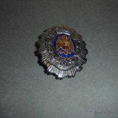 Militaria: ANTIGUA PLACA POLICIA MUNICIPAL ESCUDO FRANQUISTA . - FABRICADA POR CASTELLS BARCELONA 7X5,5 CM. . Lote 52939552