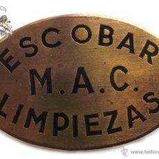 Militaria: CHAPA DEL SERVICIO DE LIMPIEZAS, ESCOBAR . Lote 52964871