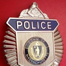 Militaria: INSIGNIA PLACA DE POLICIA AMERICANA POLICE DE EASTON DEL ESTADO DE MASSACHUSETTS CON CERTIFICADO. Lote 53025690