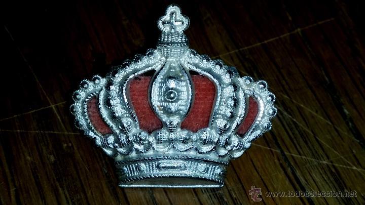 CORONA PARA GORRA DE CABALLERIA ALFONSINA GRANDE DE GRAN CALIDAD 3,3 CM DE ANCHO X 3 CM DE ALTURA (Militar - Insignias Militares Españolas y Pins)