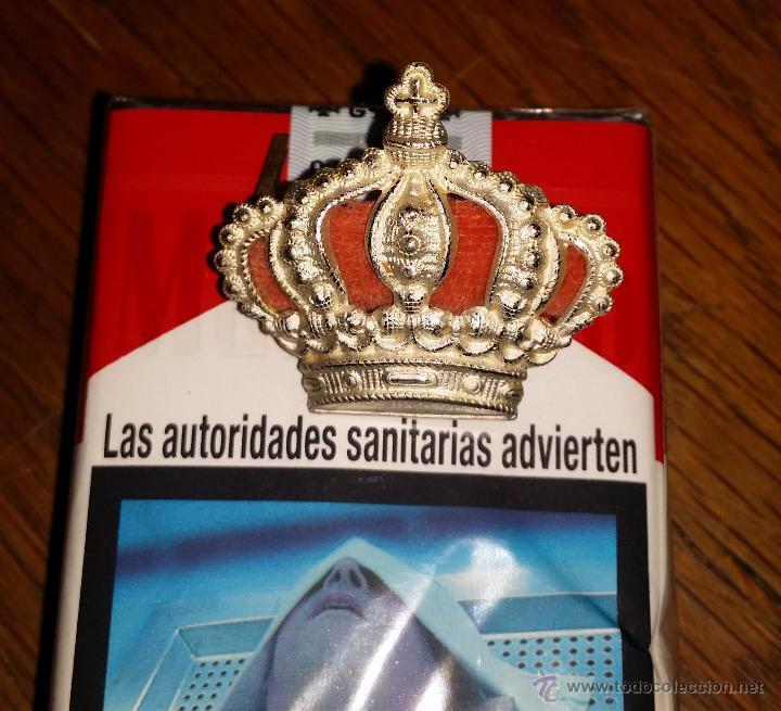 Militaria: CORONA PARA GORRA DE CABALLERIA ALFONSINA GRANDE DE GRAN CALIDAD 3,3 CM DE ANCHO X 3 CM DE ALTURA - Foto 3 - 114611498