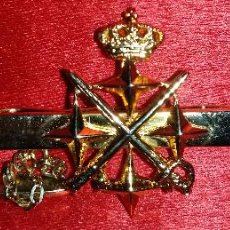 Militaria: PISACORBATAS O PASADOR DE CAPITAN GENERAL,PLATA DE PRIMERA LEY PUNZONADA. Lote 53264944