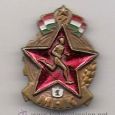 Militaria: PIN - INSIGNIA DE AGUJA ESMALTADO **HUNGRIA COMUNISTA 1 M H K **. Lote 53419195