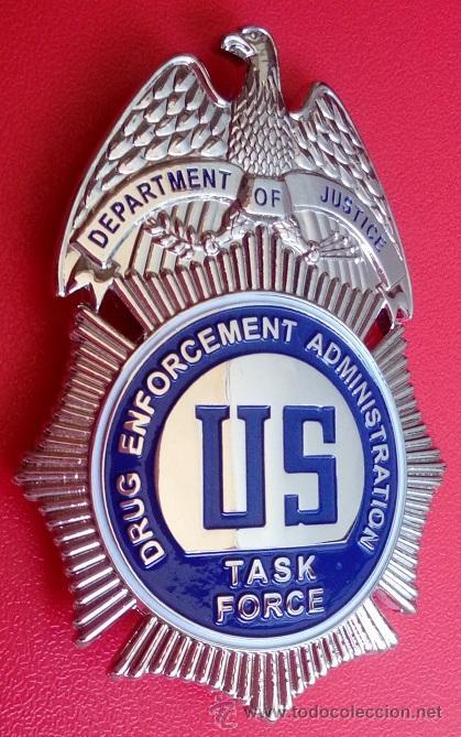 Insignia placa de policia americana dea task fo - Sold through