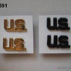Militaria: U.S. - U.S.A. - E.E.U.U. : 2 PAREJAS DE INSIGNIAS DE CUELLO (EN DORADO Y NEGRO). ENVÍO GRATUITO.. Lote 53532582