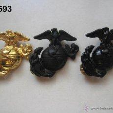 Militaria: U.S. - U.S.A. - E.E.U.U. : LOTE DE 3 INSIGNIAS DE MARINES. ENVÍO GRATUITO (CERTIFICADO)... Lote 53532850