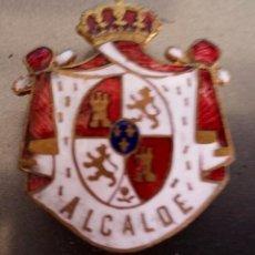 Militaria: INSIGNIA DE SOLAPA EPOCA DE ALFONSO XIII PARA ALCALDE ESMALTADA DE GRAN CALIDAD,GRANDE. Lote 101087634