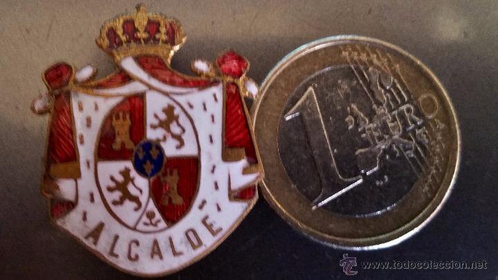 Militaria: INSIGNIA DE SOLAPA EPOCA DE ALFONSO XIII para alcalde esmaltada de gran calidad,grande - Foto 2 - 158654448