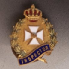 Militaria: INSIGNIA DE SOLAPA EPOCA DE ALFONSO XIII DE INSPECTOR DE SANIDAD. Lote 53840553