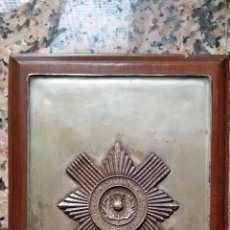 Militaria: PLACA DE METAL CON ESCUDO DE LOS SCOTS GUARDS.. Lote 54152701
