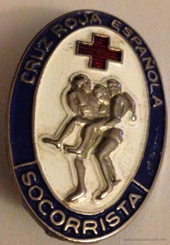 CHAPITA INSIGNIA CURSO SOCORRISTA (Militar - Insignias Militares Españolas y Pins)