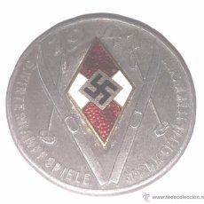 Militaria: DISTINTIVO JUVENTUDES HITLERIANAS 1941 SQUI, SKY O. WINTERKAMPFSPIELE GARMISCH PARTENKIRCHEN, TOTALM. Lote 54340075