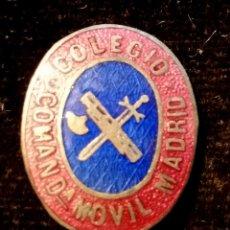Militaria: INSIGNIA DE SOLAPA AÑOS 50 DE LA GUARDIA CIVIL COLEGIO COMANDANCIA MOVIL MADRID. Lote 80184094