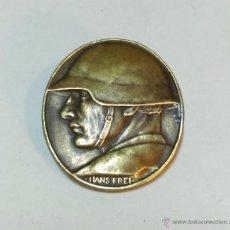 Militaria: ANTIGUO MEDALLON O INSIGNIA DE AGUJA SUIZA. HANS FREI, AÑO 1918, CON TEXTO PARTE POSTERIOR. VER. Lote 54656802