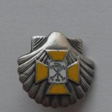Militaria: PIN DE ALFILER,FALANGE ,ACCION CATOLICA, EN CONCHA DE SANTIAGO DE 1,8 X 1,8 CMS.. Lote 54683651
