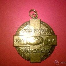 Militaria: MEDALLA PRO PATRIA 1914-1919 FURS VATERLAND (SUIZA). Lote 54716855
