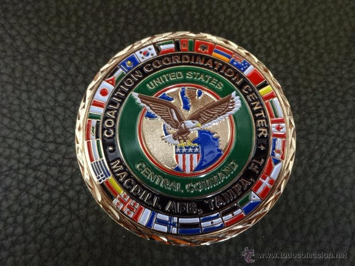 CHALLENGE COIN COALITION COORDINATION CENTER. MC DILL AFB TAMPA (Militar - Insignias Militares Internacionales y Pins)