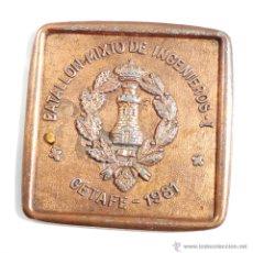 Militaria: PLACA DEL BATALLON MIXTO DE INGENIEROS.I. GETAFE 1981. Lote 55015717