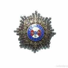 Militaria: ANTIGUA INSIGNIA....ESMALTADA DE PLATA Y PLATA DORADA....AL MERITO EN CAMPAÑA.. Lote 43472598