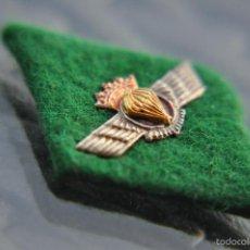 Militaria: AVIACION, ROMBO DE PAÑO VERDE DE PARACAIDISTA, ÉPOCA ANATERIOR.. Lote 55556155