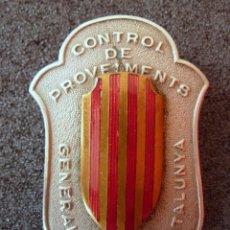 Militaria: (JX-1465)PLACA DE CONTROL DE PROVEIMENTS.CONTROL DE APROVISIONAMIENTO.GENERALITAT DE CATALUNYA,G.C.. Lote 56197587