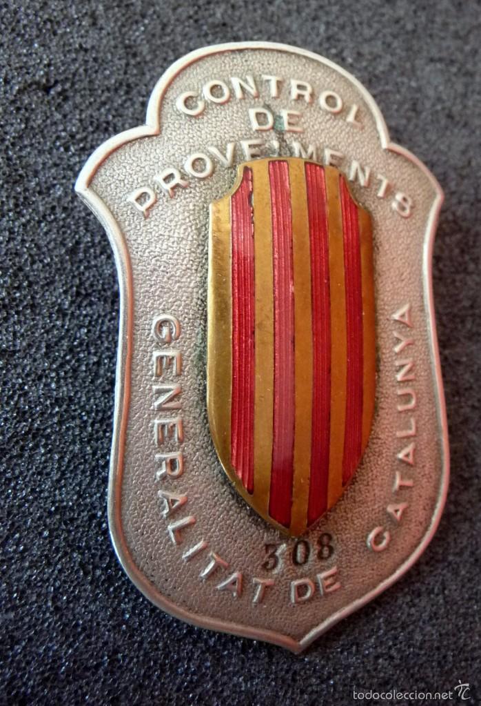 Militaria: (JX-1465)PLACA DE CONTROL DE PROVEIMENTS.CONTROL DE APROVISIONAMIENTO.GENERALITAT DE CATALUNYA,G.C. - Foto 3 - 56197587