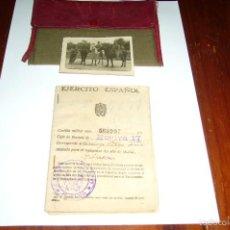 Militaria: CARTILLA MILITAR Y FOTO. Lote 56205476