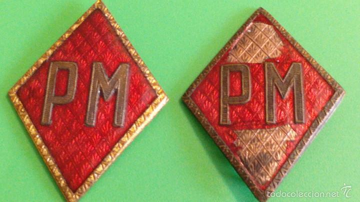 ANTIGUOS ROMBOS POLICIA MILITAR (Militar - Insignias Militares Españolas y Pins)