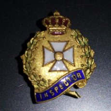Militaria: INSIGNIA DE SOLAPA DE INSPECTOR DE SANIDAD EPOCA DE ALFONSO XIII,GRAN CALIDAD. Lote 57267878