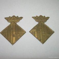 Militaria: DOS INSIGNIAS DE LATON.. Lote 57385475
