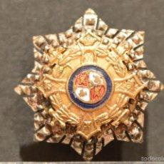 Militaria: INSIGNIA DE SOLAPA MERITO MILITAR EN PLATA ORDEN DE MARIA CRISTINA. Lote 57773849