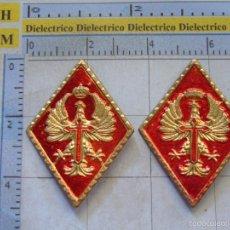 Militaria: 2 ROMBOS INSIGNIAS MILITARES. CIR. CENTROS DE RECLUTAMIENTO. AÑOS 60 70. Lote 57775069