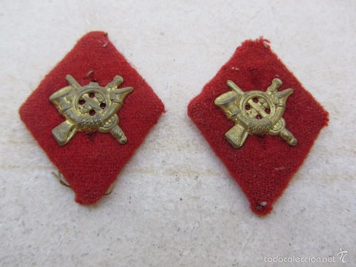 PAREJA DE ROMBOS MILITARES (Militar - Insignias Militares Españolas y Pins)