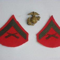 Militaria: GALONES E INSIGNIA DE LA INFANTERIA DE MARINA DE LOS EE.UU.-US MARINE CORPS. Lote 58081123