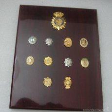 Militaria: METOPA CON PINS DE PLACAS POLICIA NACIONAL. Lote 58208150
