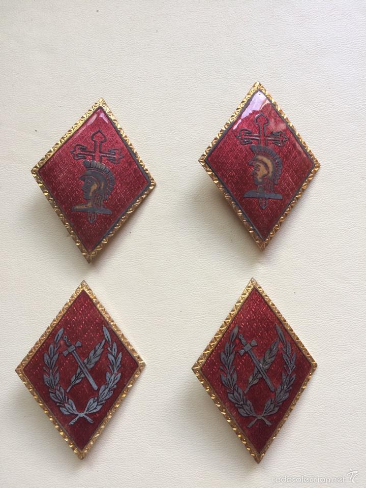 LOTE DE 4 ROMBOS (Militar - Insignias Militares Españolas y Pins)
