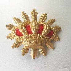 Militaria: INSIGNIA O CORONA DORADA DE CARABINEROS - 3 CMS DE ANCHA - EPOCA ALFONSO XIII. Lote 58788906